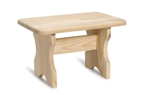 Darice Unfinished Wood Stool – Unfinished Pinewood Can Be Painted, Stained and Embellished - Decorate to Match Kitchen, Living Room, Bathroom, Nursery Décor – Trestle Design, -