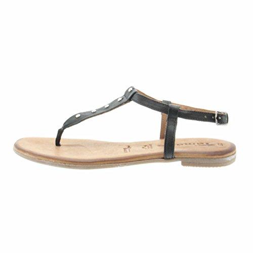 Tamaris Schuhe 1-1-28133-38 Bequeme Damen Sandalette, Sandalen, Sommerschuhe für Modebewusste Frau Black