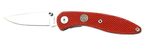 Sarge-Knives-SK-900RD-Stinger-Knife-with-2-12-Inch-Stainless-Blade-with-Red-Diamond-Cut-Pattern-Aluminum-Handle-and-Pocket-Clip