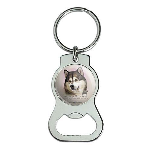Alaskan Malamute Dog Breed - Graphics and More Alaskan Malamute Dog Breed Bottle Cap Opener Keychain Key Ring