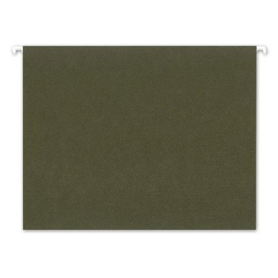 Ampad 5211/5R Hanging File Folders, 100% Recycled, Letter, 1/5 Cut, Standard Green, 25/box by Ampad