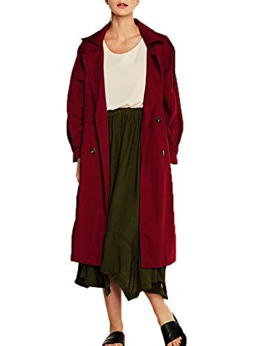 Mujeres Abrigo Trench Longitud Coat Cazadora Vendaje Jacket Con Tops Ropa Blouse Mediana Casual Manga Moda Outerwear Chaquetas Larga De Invierno Otoño 5EqwBAAv