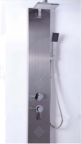 GOWE columna de ducha masaje Jets níquel cepillado Panel de ducha ...