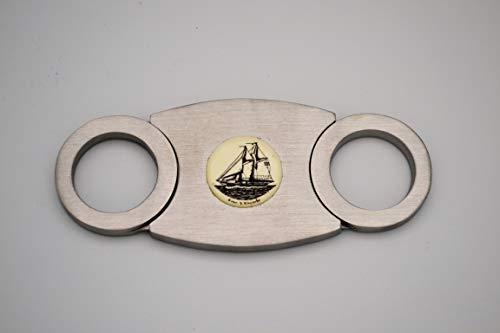 Scrimshaw Cigar Cutter Stainless Steel
