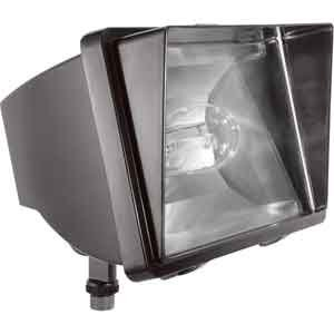 RAB Lighting FF150 High Pressure Sodium HID Future Floodlight, ED17 Type, Aluminum, 150W Power, 16000 Lumens, 120V, Bronze Color