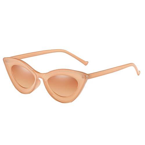 Ikevan_ Summer Fashion Cat Eye Sunglasses Glasses Shades Vintage Retro Style UV Protection Eyeglasses For Unisex Women Men (Khaki) ()