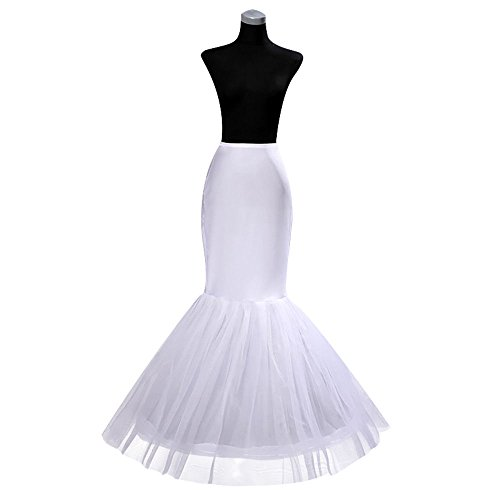 MLQM Womens Sexy Mermaid Petticoat Underskirt for Bridal Wedding Gown Trumpet - Mermaid Trumpet