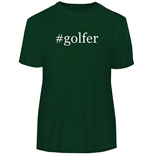 One Legging it Around #Golfer - Hashtag Men's Funny Soft Adult Tee T-Shirt, Forest, X-Large ()