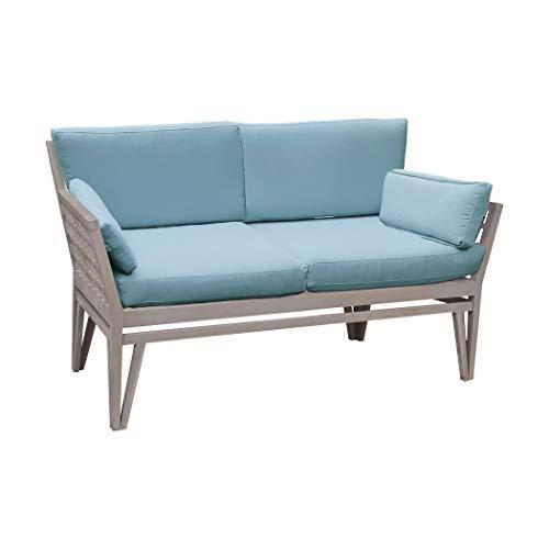 Guildmaster 2318003S-SO Newport 26 X 20 inch Sea Green Outdoor Love Seat - Chandelier Ceiling Newport