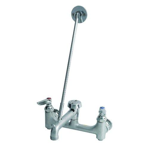 Lever Rough (T&S Brass B-0665-CR-BSTR Service Sink, Ceramic Cartridges with Check Valves, Lever Handles, Rough Chrome)