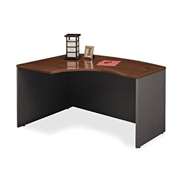 bush furniture series c left l bow desk wc24433 amazoncom bush furniture bow