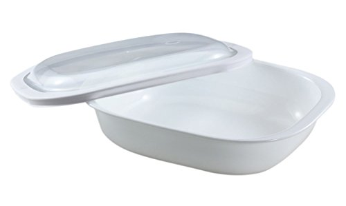 CorningWare SimplyLite 3-Quart Oblong Baking Dish with Plastic Lid by CorningWare