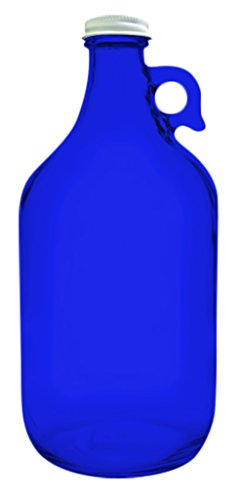 True Fabrications 1.2 Gallon Clear Glass Beer Growler - Full Color Cobalt Blue - Additional Vibrant Colors Available by TableTop King