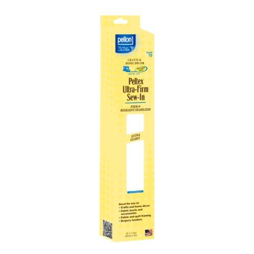Pellon Fusible Stabilizer - Pellon Ultra-Firm Sew stabilizer, 1 Pack, White