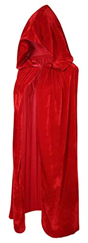 Crizcape Kids Costumes Capes Cloak with Hood for Halloween Party Ages 2 to 18 (Red, -