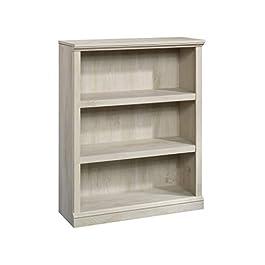 Sauder 13.5 x 35.4 x 44.1-Inch Wooden 3-Shelf Bookcase, Abbey Oak Finish