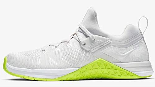 Nike Women's Metcon Flyknit 3 Training Shoe, 10 M US, White/White-Volt-Linen