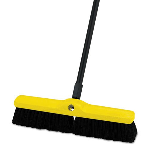 RCP9B06BLA Medium Floor Sweeper, Polypropylene/Tampico, 18quot; Brush, 3quot; Bristles, Black (Floor Push Tampico Brush Broom)