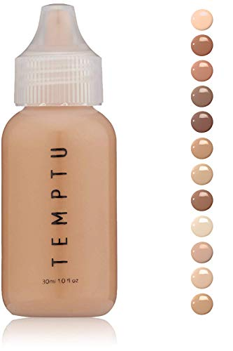 Temptu S/B Foundation Liquid Make Up: Natural Silicone Foundations for Air Brush, Sponge or Brush Application - Long Lasting Full Coverage Face Makeup with No Oil or Paraben - Golden Honey, 1 Oz