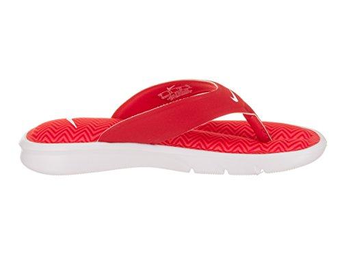 NIKE Frauen Ultra Comfort Thong Sandale Universität Rot / Weiß / Total Crimson