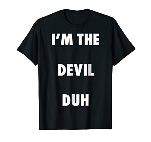 Easy Halloween Devil Costume Shirt for Men Women Kids]()
