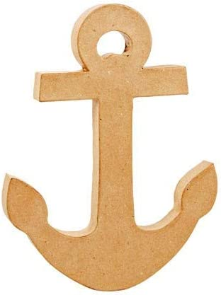 Gifting Ideas for Ocean Boat Themed Party /& Events 13 x 10 Large Unfinished Paper Mache Anchor Cruise Sailing Ship Creative DIY Craft