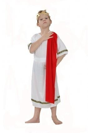 [Boys Fancy Dress Costume Roman Emperor Small Toga Party Rome Sparticus by PAMS] (Roman Emperor Costume Accessories)