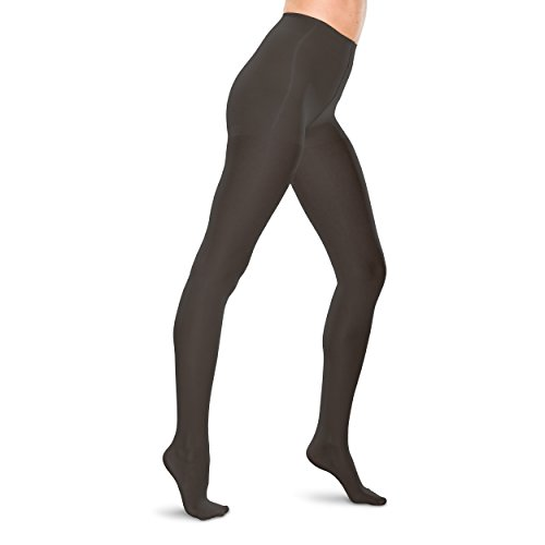 Therafirm LIGHT Women's Support Pantyhose - 10-15mmHg Compression Stockings (Black, (Womens Lites Sheer Support)
