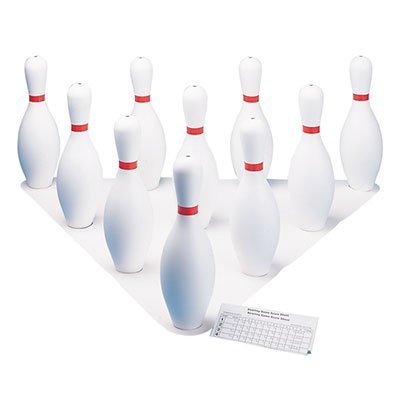 AccessiBowl Deluxe Full Size Bowling Pins | Kids Indoor Outdoor Bowling Pin Game Set
