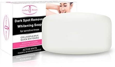 Uyuke Jabón para aclarar la Piel, jabón para blanquear la Piel del Cuerpo Eliminar el jabón para blanquear la melanina para Las piernas de la axila Rodilla