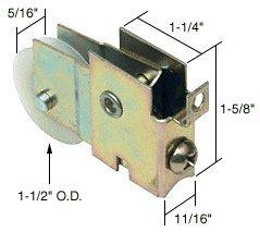 Master Housings - CRL Sliding Glass Door Roller with 1-1/2 Nylon Wheel 11/16