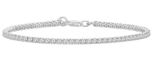 Sterling Stacking Zirconia Bracelet Extender product image