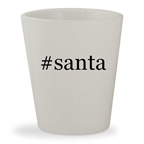 #santa - White Hashtag Ceramic 1.5oz Shot Glass (Santa Margherita Pinot)