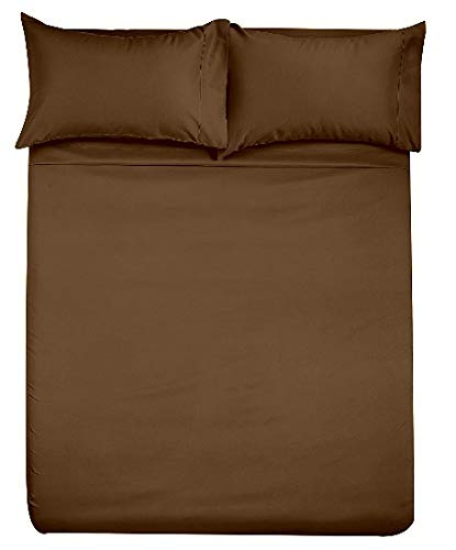 Lavish Linens Queen Size Sleeper Sofa Sheet 10 Inch Deep Solid Chocolate - 1800 Series Brushed Microfiber Wrinkle Free, Stain & Fade Resistant