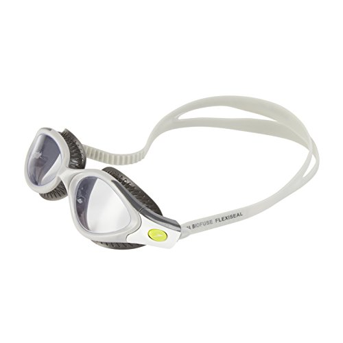 Speedo Futura Biofuse Flexiseal Lunette Femme, Rose/Noir USA Charcoal/Cool Grey/Clear