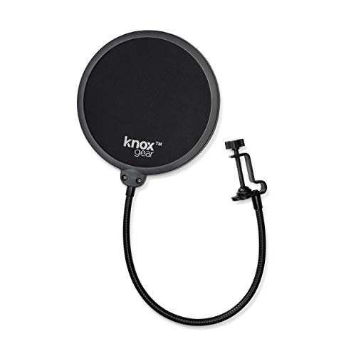Blue Yeti Microphone (Blackout) with Knox Gear Pop Filter and 3.0 4 Port USB Hub Bundle