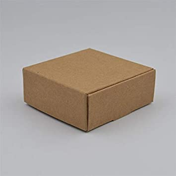 Amazon Com Zereff 10pcs Natural Kraft Paper Gift Packaging Box