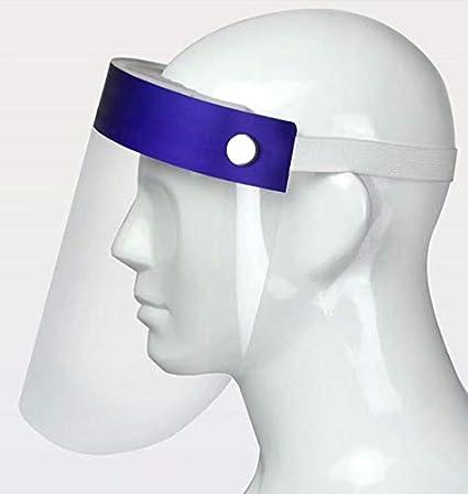 6 Viseras Protectoras para la Cara Las Gotas pl/ástico Ligero el Polen y el Polvo para Evitar la Saliva Azul Enjoyee Transparente Ajustable