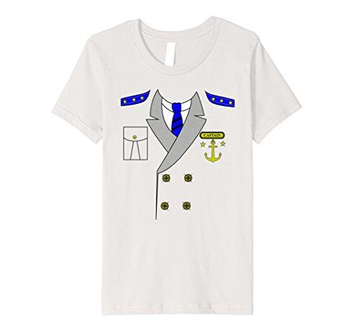 Kids Boat Captain Uniform Costume T-Shirt   Halloween Shirt 4 Silver for $<!--$18.99-->