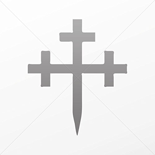 Decal Sticker Ancient Cross Decoration Motorbike Bicycle Vehicle ATV c Gray (8 X 6.84 In)