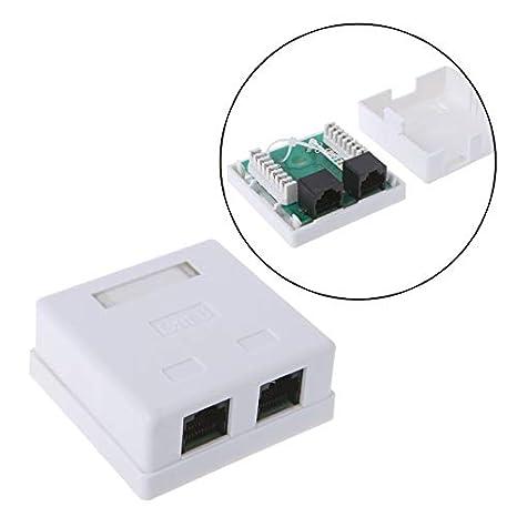 Computer Cables Single-Port Desktop Box Cat6 RJ45 8P8C UTP Unshielded Single Port Desktop Mount Box Cable Length: 1 PC