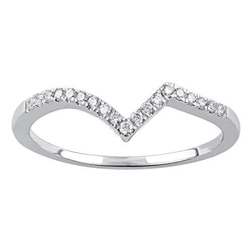 La4ve Diamonds 10K White Gold 3/4 Carat Diamond Seven Stone Incredible fit (Color - H-I) (Clarity - I2-I3) ()
