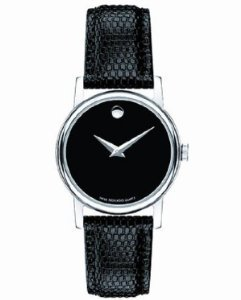 Women Watch Movado 2100004 Museum Black Dial Museum Quartz Leather Strap (Museum Leather Black Strap)