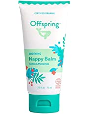 Offspring Baby Nappy Balm, Soothes and Moisturizes Dry Skin, Dry Lips, Baby Bums, Mothers Nursing Area and Cuticles(2.5 Fluid Oz)