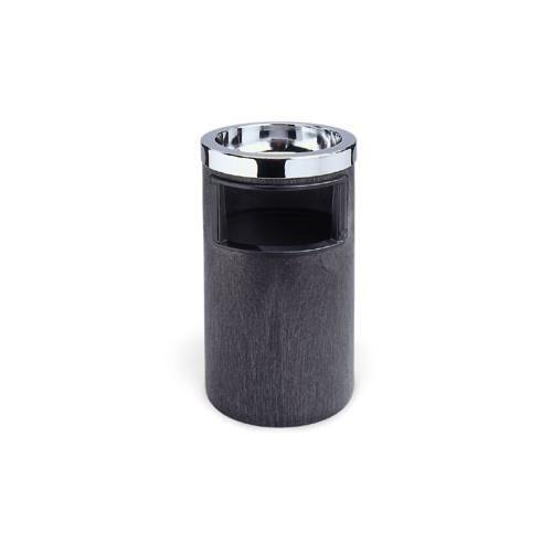 Ash/Trash Can, 3-3/4 gal, Black