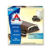 Atkins Nutritionals Inc. Advantage Bar Cookies N' Creme - 5 Bars, 2 Pack