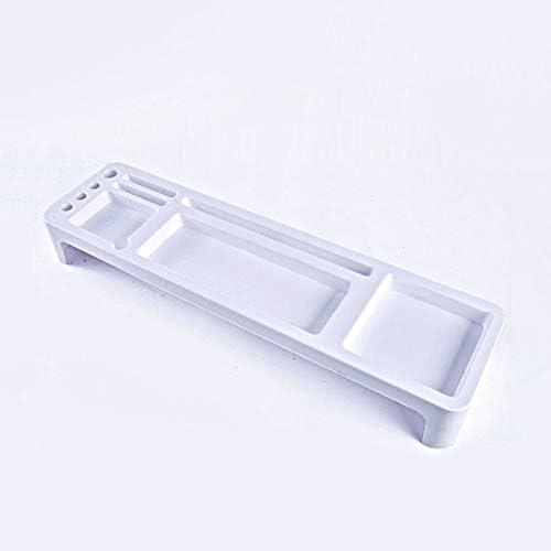 ファミリー収納ボックス シンプルなストレージボックス、軽量かつ丈夫なファイルデスクトップの複数のグリッドストレージコンテナボックス プラスチック製の収納ボックス (Color : White)