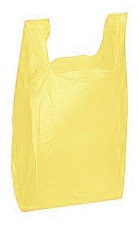 Bolsas de plástico T Shirt, 25 unidades), color amarillo ...