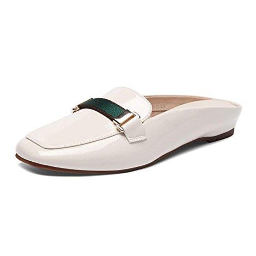 Xy® Black Couleur Sauvage 5 Taille Pantoufle UK5 Fond Sandales Plat Blanc Extérieur Demi CN38 Baotou Version D'été Sandales Femelle Mode Coréenne EU38 r6Bq8xfZrw
