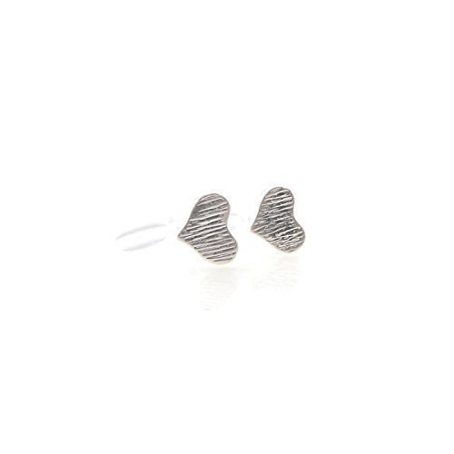 6mm Tiny Heart Invisible Clip On Earrings, Silver-Tone